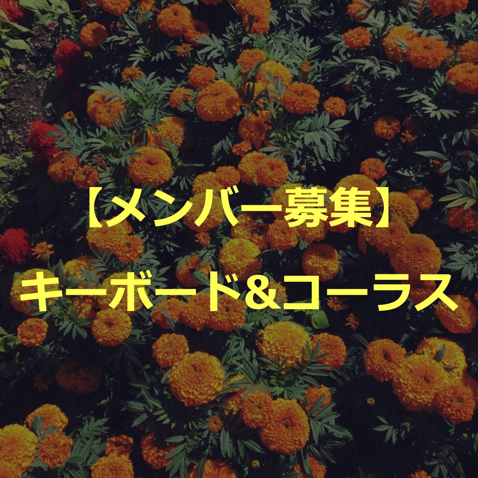 【メンバー募集】キーボード&コーラス